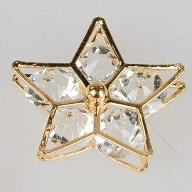 Deko-Stern mit Glassteinen gold-Kristall