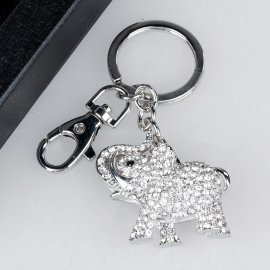 Schlüsselanhänger Elefant mit Strass