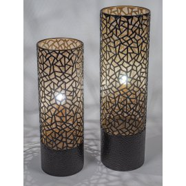 Lampe schwarz Metall