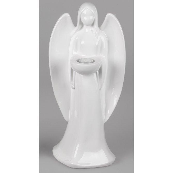 Leuchter Engel Basic-weiß