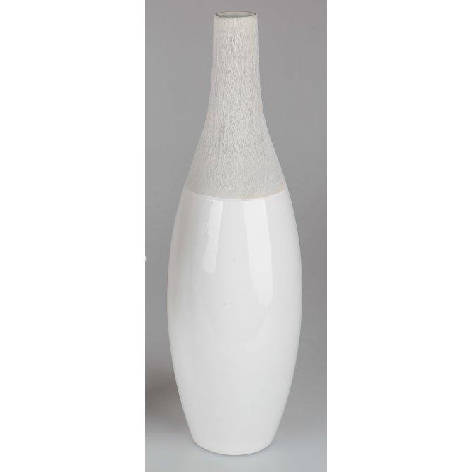 Flaschenvase Stone-weiß