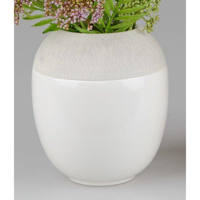 Vase Stone-weiß