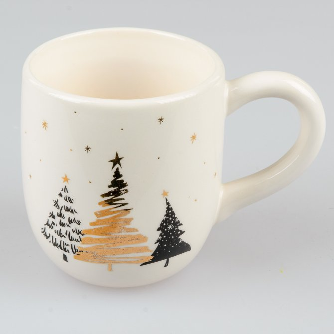 Becher 14cm Weihnachtszeit Bäume