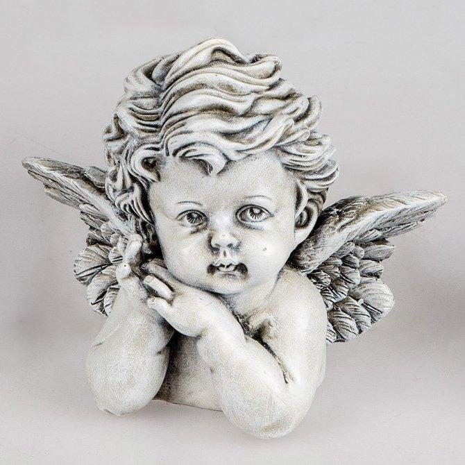 Büste Engel 12cm Trauer