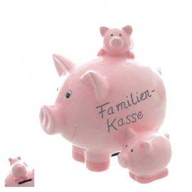 Sparschwein Familien-Kasse 13cm