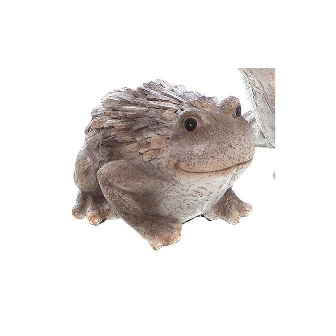 Frosch mit Holzstruktur