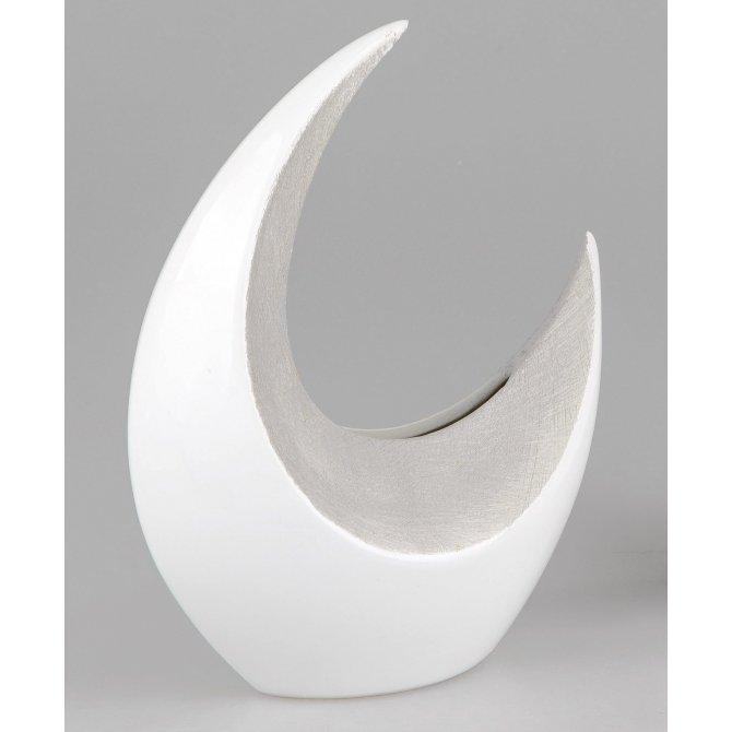 Vase 30cm Stone-weiß