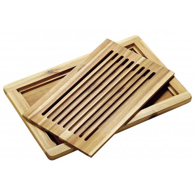 Brotschneidebrett Akazienholz