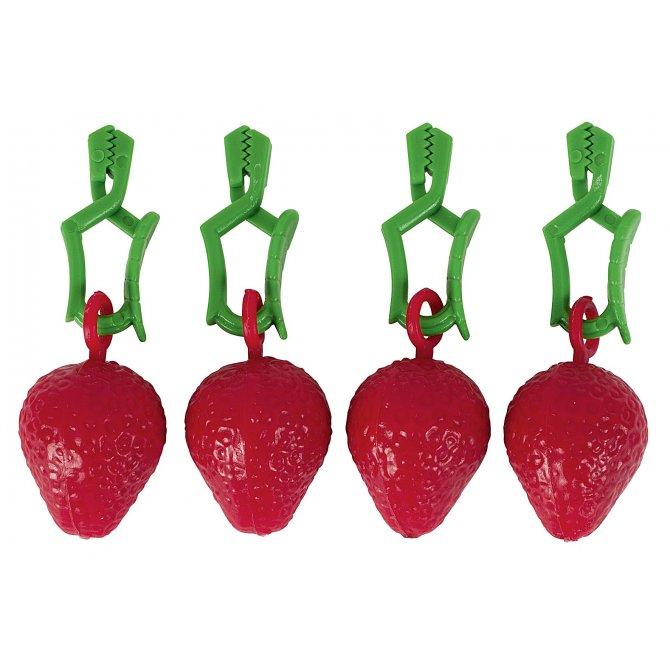Tischtuchhalter Erdbeere 4er