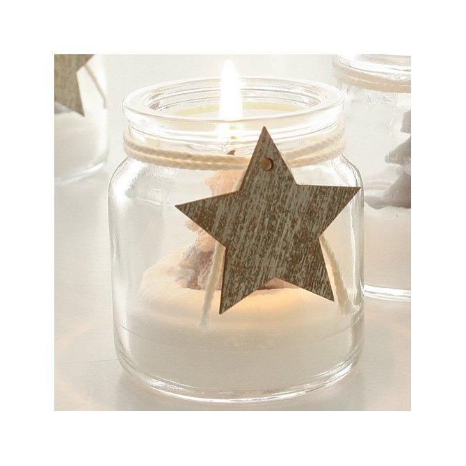 Teelicht Tanne im Glas mit Stern