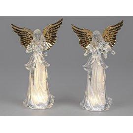 Engel mit Licht 28cm Acryl-gold