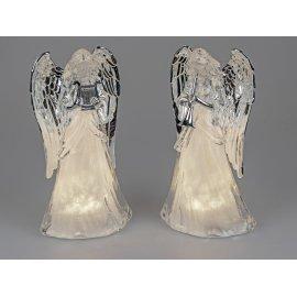 Engel mit Licht 35cm Acryl