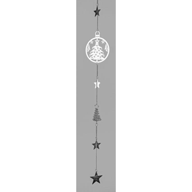 Girlande Weihnachten 96cm Edelstahl