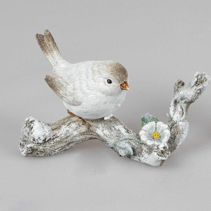 Vogel auf Zweig Natur-creme