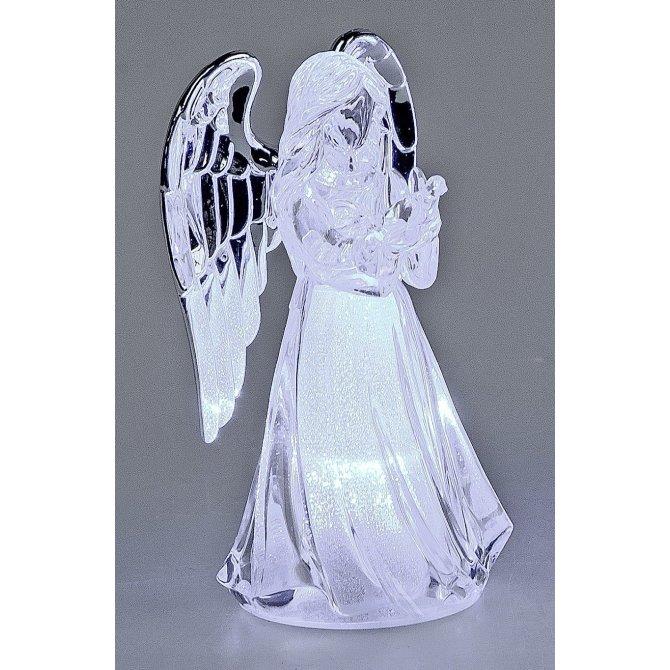 Engel 10cm Acryl mit Licht