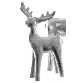 Hirsch stehend 55cm silber