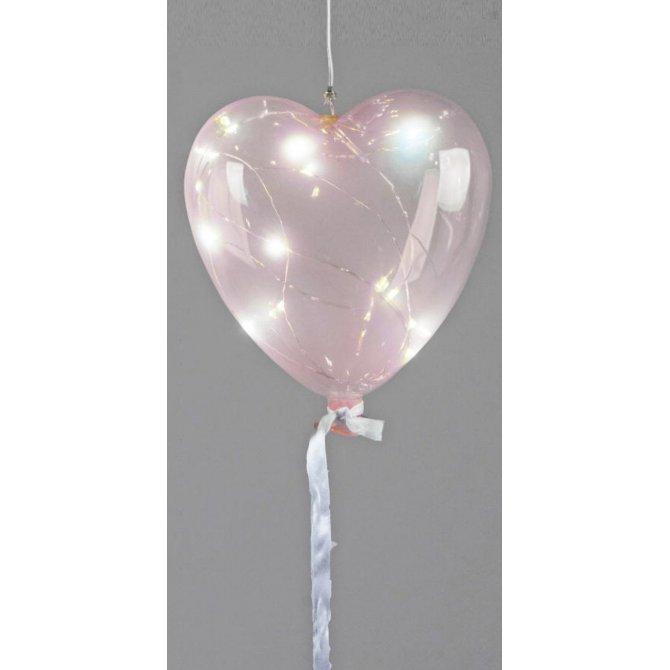 Herz-Ballon 16cm mit LED