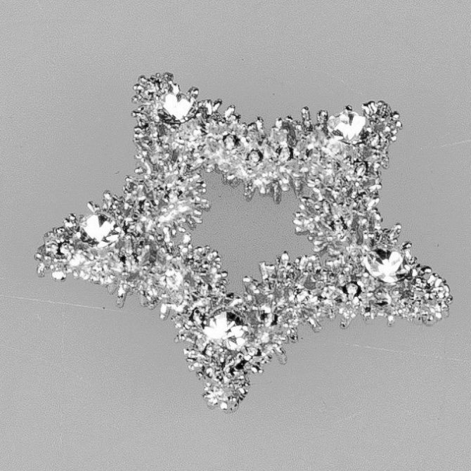 Deko-Stern 4cm silber-Kristall