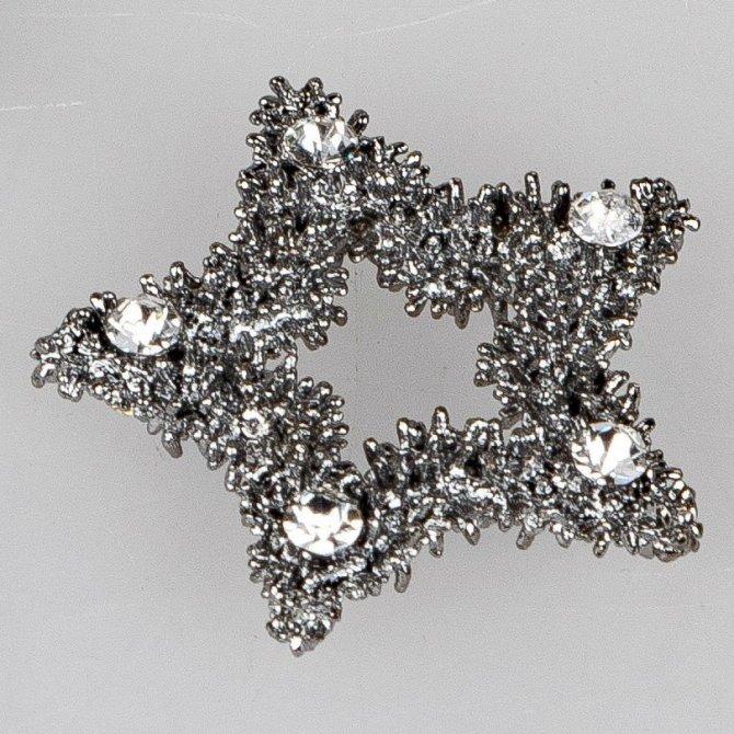 Deko-Stern 4cm schwarz-Kristall