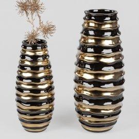 Vase schwarz-gold
