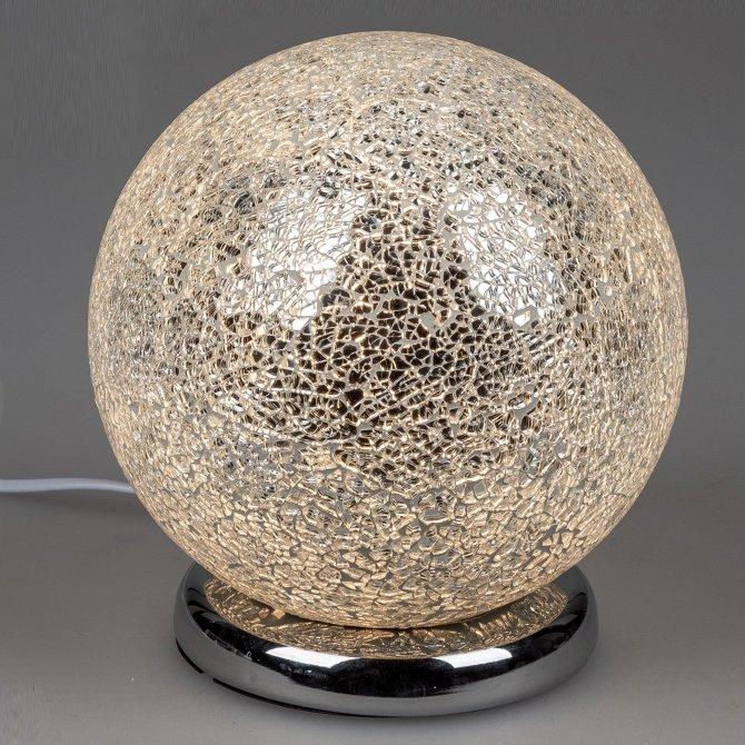 Lampe Kugel Touch Mosaik silber