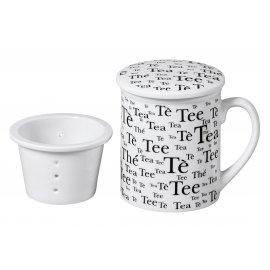 """Teebecher """"Tee"""" mit Sieb und Deckel"""