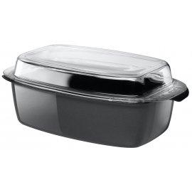 Schlemmerkasserolle mit Glasdeckelanthrazit 32cm