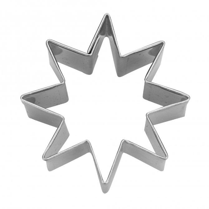 Ausstecher Stern 8-zackig 4,5 cm