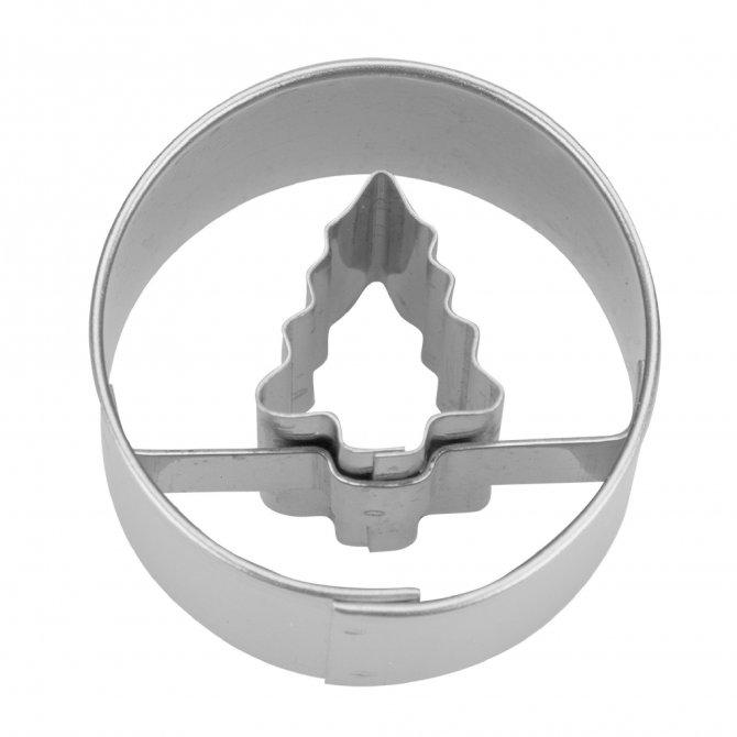 Ausstecher Tanne in Ring 3,0 cm Mini