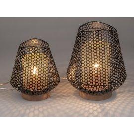Lampe Welle Ringe schwarz-gold