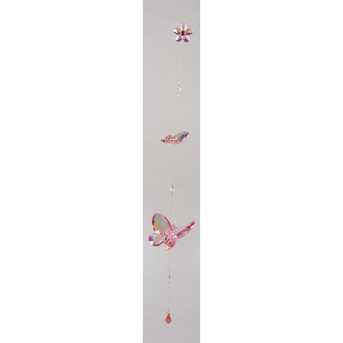 Hängedeko Schmetterling mit Blume Acryl - Lüster
