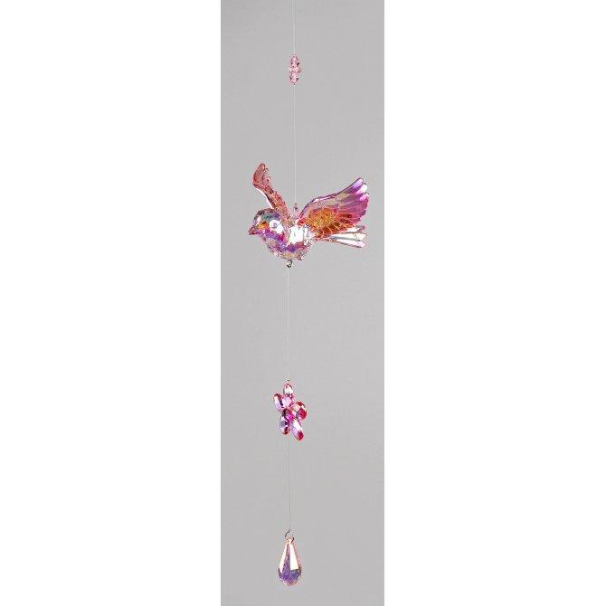 Hängedeko Vogel 46cm Acryl - Lüster