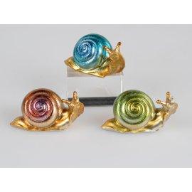 Schnecke 10cm Multifarben gold