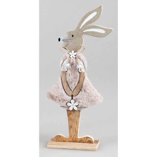 Hase stehend 23cm Holz