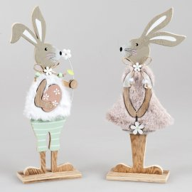 Hase stehend 30cm Holz
