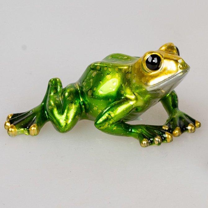 Frosch 11cm Perlgrün