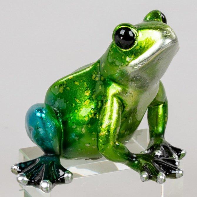 Frosch 14cm Perlgrün
