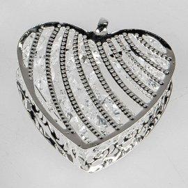 Deko-Herz 4cm silber-Kristall
