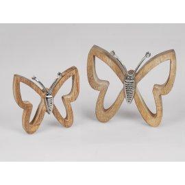 Schmetterling Alu Mango-Holz