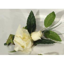 Tischdeko Rose 10cm creme