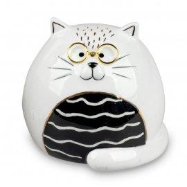 Katze mit Brille 8cm Trend-Style