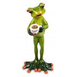 Frosch Frau mit Kaffee