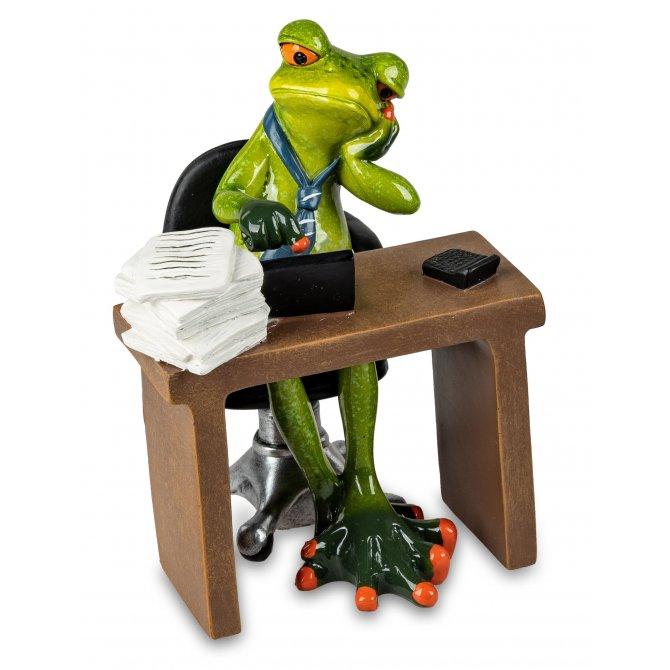 Frosch Mann im Büro