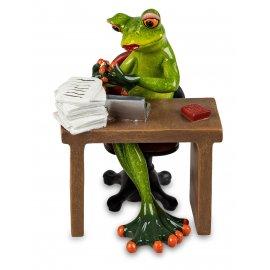 Frosch Frau im Büro