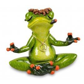 Frosch im Lotussitz Yoga