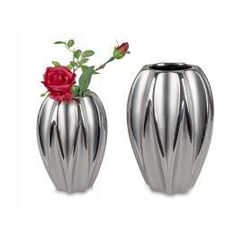 Vase hoch Mattsilber