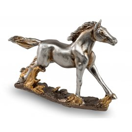 Pferd 15cm Antik-Silber