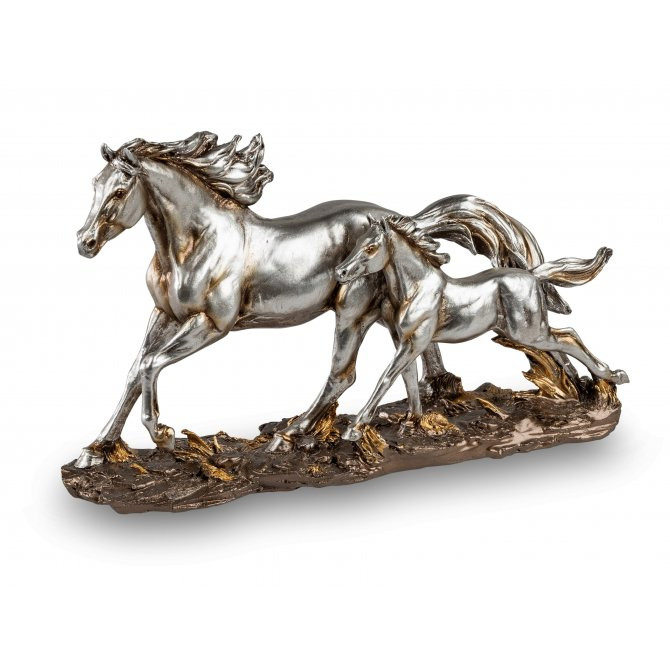 Pferdegruppe Antik-Silber