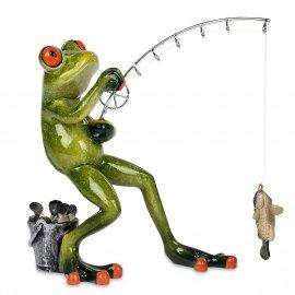 Frosch Angler stehend