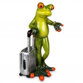 Frosch mit silbernem Koffer